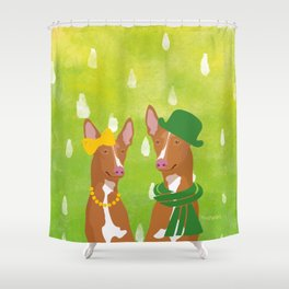 Pharaoh Hounds Watercolor Shower Curtain