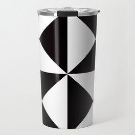 Geometric Pattern #45 (black white triangles) Travel Mug