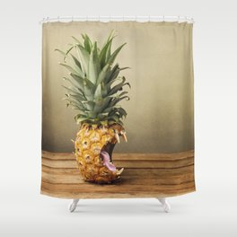 Pineapple is hungry Shower Curtain
