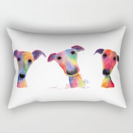 ' THe WaCKY WHiPPeTS ' WHiPPeT, GReYHouND PRiNTs, ART Rectangular Pillow