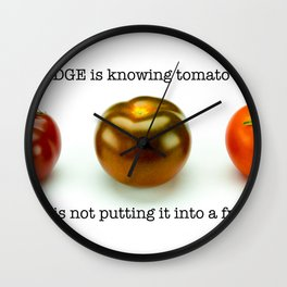 Knowledge and Wisdom Wall Clock