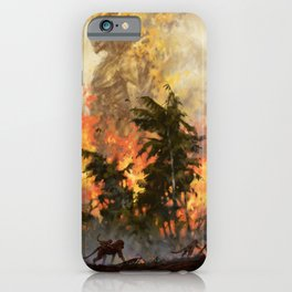 The fire demon of the rainforests iPhone Case
