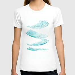 falling palm leaves watercolor T-shirt