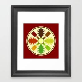 Mighty Oak Folk Art Hex Sign Framed Art Print