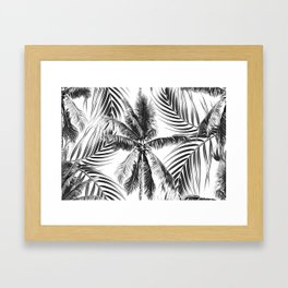 South Pacific palms II - bw Framed Art Print
