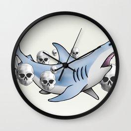 Shark & Skulls Wall Clock