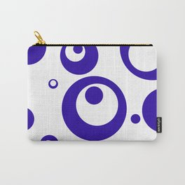 Circles Dots Bubbles :: Blueberry Inverse Carry-All Pouch