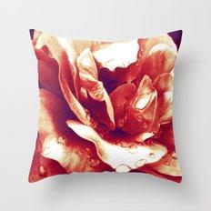 Morning Rose - Red Throw Pillow