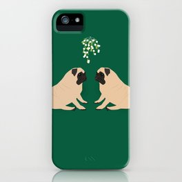 Pug Mistletoe iPhone Case