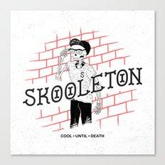 Skooleton Canvas Print