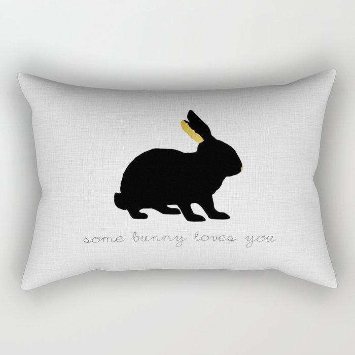 Some Bunny Loves You Rectangular Pillow