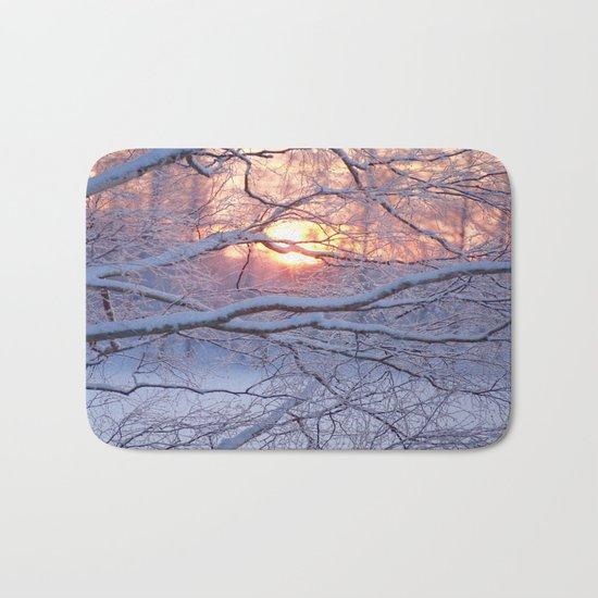 Winter Sunset Bath Mat