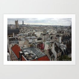 Paris Urban Fabric Color Art Print