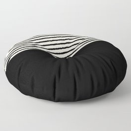 Texture - Black Stripes Blocks Floor Pillow