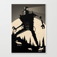 iron giant Canvas Prints featuring 'Iron Giant' by Stone Adrian