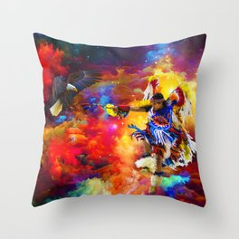 Dance with eagle Throw Pillow