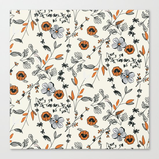 Floral pattern Flowers Canvas Print