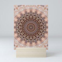 Mandala romantic pink Mini Art Print