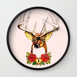 Oh deer. Wall Clock