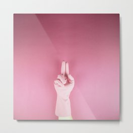 Mighty pink glove Metal Print