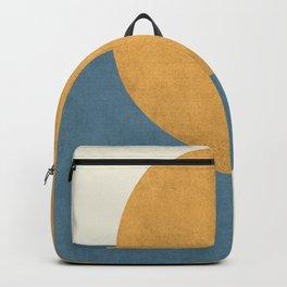 Halfmoon Colorblock - Gold Blue Backpack