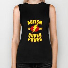 Autism is My Super Power Biker Tank