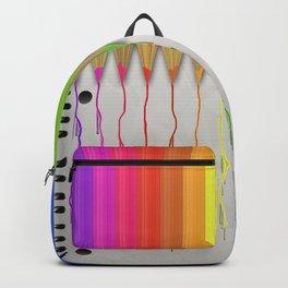 Melting Rainbow Pencils Backpack
