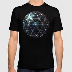 Galaxy Geodesic  LARGE Mens Fitted Tee Black