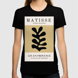 Henri matisse abstract leaf cutoff beige color wall art T-shirt