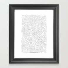 The Lego Movie —Colouring Book Version Framed Art Print
