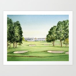 Southern Hills Golf Course 18th Hole Art Print