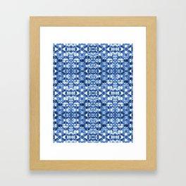 Shibori Mirror Framed Art Print
