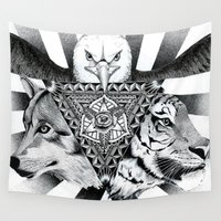 power Wall Tapestries featuring Power by wreckthisjessy
