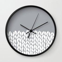 Half Knit Grey Wall Clock