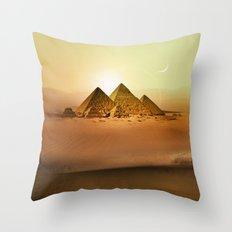 Station Pyramid Day Throw Pillow
