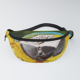 Yellow, Blue & Green Parrot Fanny Pack
