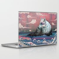 mountains Laptop & iPad Skins featuring Lone Wolf by Mat Miller