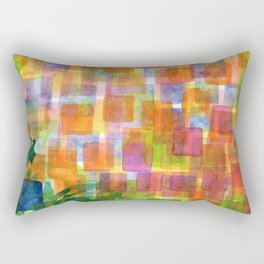 Magnified Detail of a Blossom Rectangular Pillow