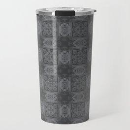 Sharkskin Geometric Floral Travel Mug