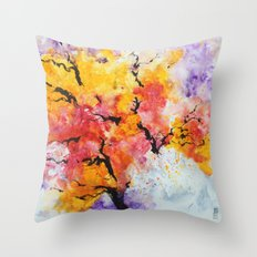 Abstraction on a tree Throw Pillow