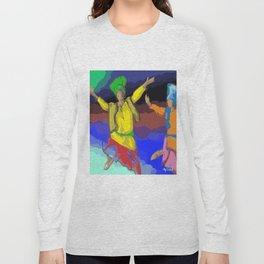 Bhangra poster Long Sleeve T-shirt