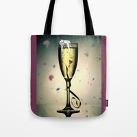 champagne Tote Bags featuring Champagne by CokecinL