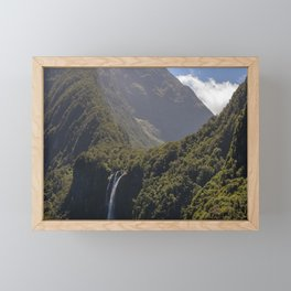 Stirling Falls Milford Sound, NZ Framed Mini Art Print