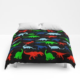 silhouettes of dinosaur pattern Comforters