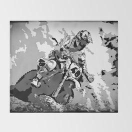 Motocross Dirt-Bike Championship Racer Throw Blanket