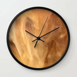French Vanilla Expresso Marble Pattern With Sweet Cream Wall Clock