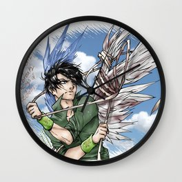 """""""They can't break my wings of freedom"""" Wall Clock"""