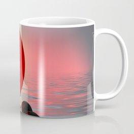 red and black on water Coffee Mug
