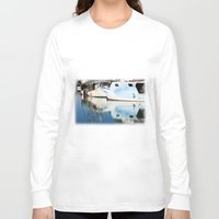 boats Long Sleeve T-shirts featuring Fishing boats by Carlo Toffolo