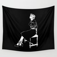 bondage Wall Tapestries featuring Tied Up by Corinne Halbert